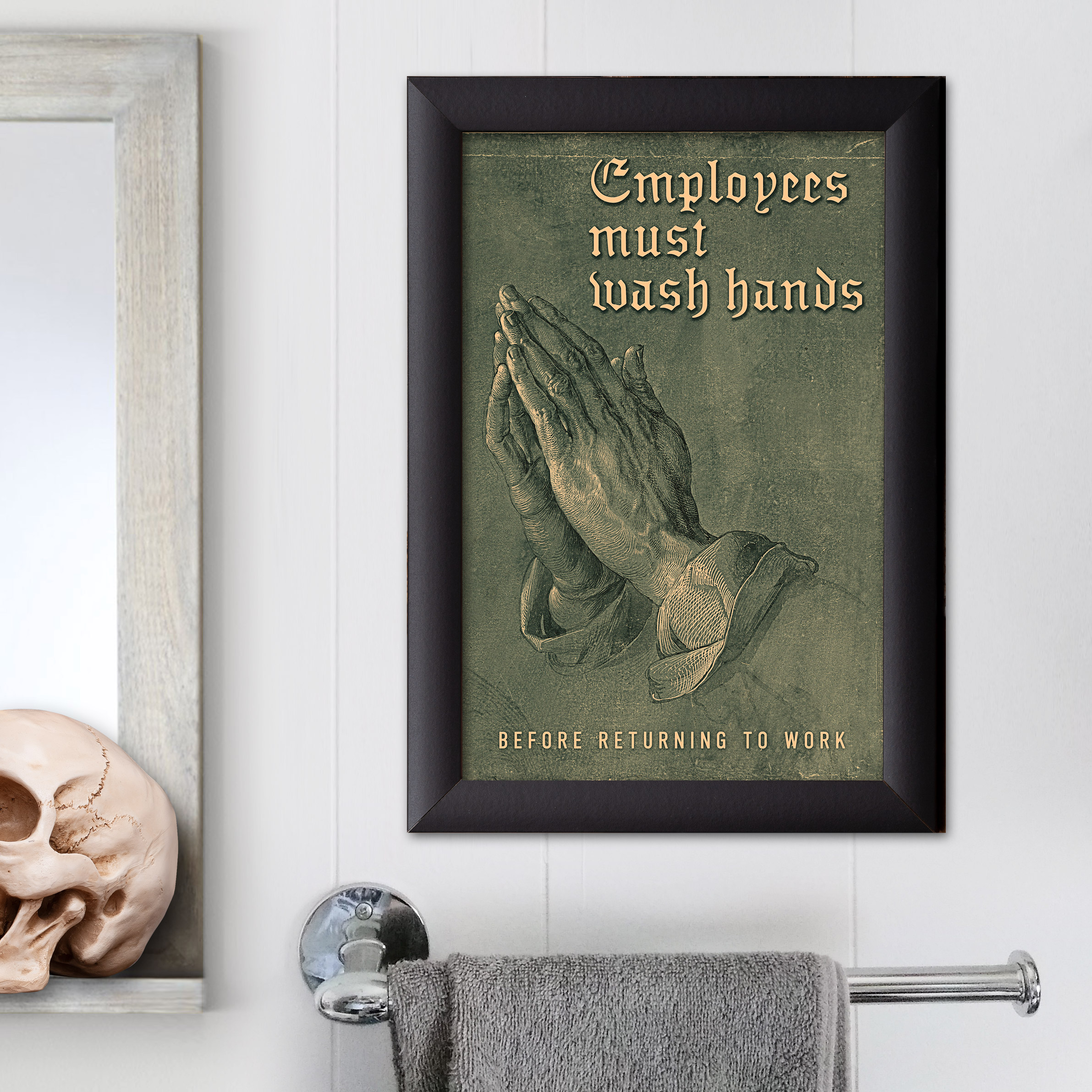 c4a96d7452ca Restaurant Bar Coffee Shop Restroom Sign · Employees Must Wash Hands ...