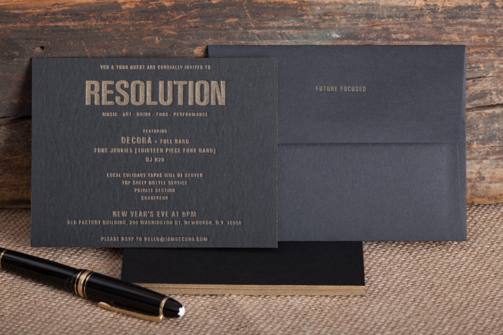 Raghaus custom letterpress event invitations and envelopes
