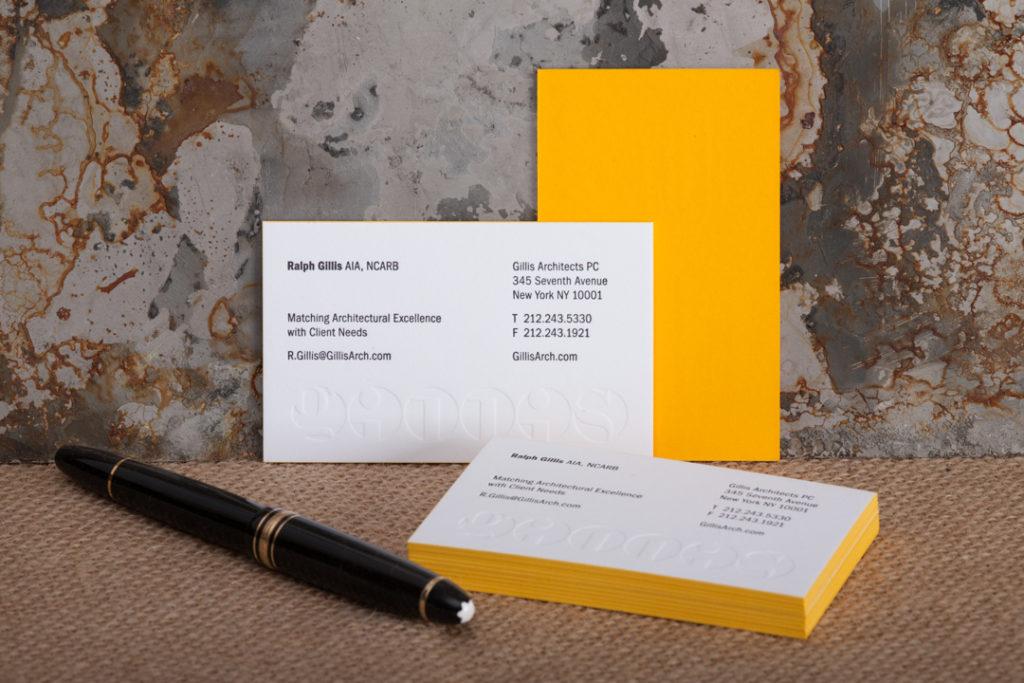 Raghaus custom letterpress business cards