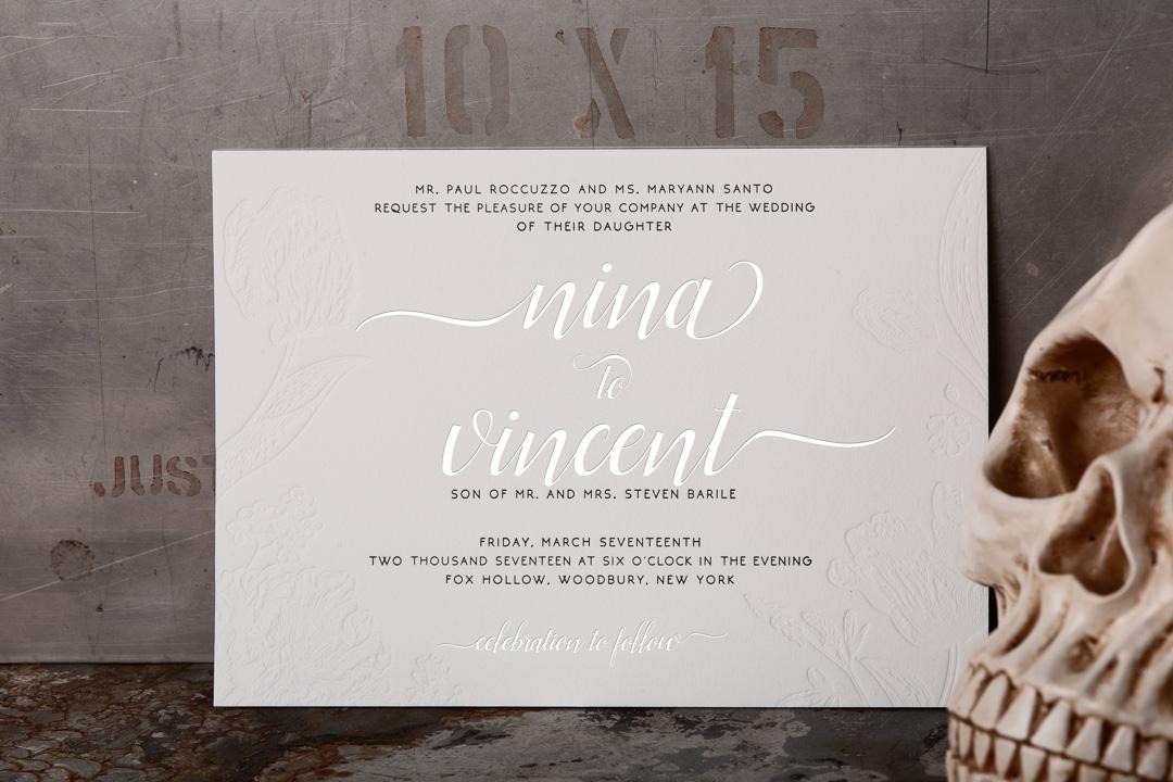 Customized Wedding Invitations: Raghaus Studios · Letterpress Printing · Bold Stationery