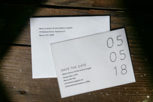 Raghaus Studios custom printed letterpress invitations and envelopes