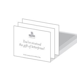 Raghaus Studios letterpress gift certificate